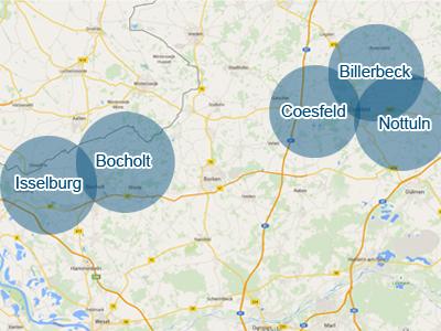 Karte der RSD Standorte